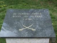 Pamětní deska civilním obětem bitvy u Slavkova