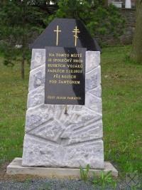 Pomník nad společným hrobem ruských vojáků