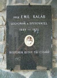 Pamětní deska pplk. Emila Kalába