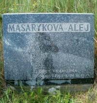 Pamětní deska Masarykovy aleje