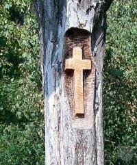 Rostlý kříž na Santonu